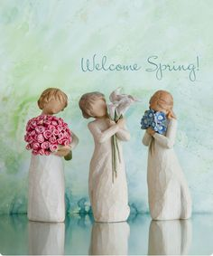 Welcome Spring!                            Janet, Shanny and Rosie :)