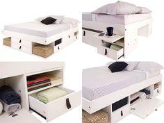 """5 camas diferentes com lugar para guardar coisas - """"meu móvel de madeira"""""""