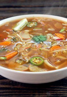 Fat Burning Spicy Thai Noodle Soup - Not Quite a Vegan