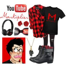 YouTube-Markiplier by zombielover100 on Polyvore