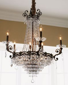Shop Alexandria Chandelier from Crystorama at Horchow, where you'll find new lower shipping on hundreds of home furnishings and gifts. French Chandelier, Antique Chandelier, Modern Chandelier, Chandelier Lighting, Chandelier Ideas, Chandelier Makeover, Lamp Light, Light Up, Lampe Applique