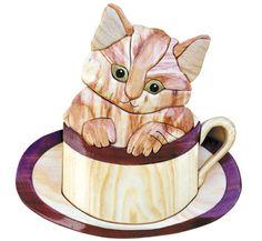 Kup 'O Kitty Intarsia Project Pattern