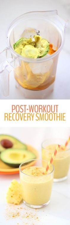 Crushed it in the gym? Help your body recover with this Post-Workout Recovery Smoothie. Full of anti-inflammatory and vitamin-packed ingredients, this smoothie will help prevent soreness and rebuild your muscles.