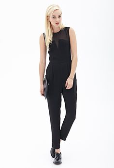 Chiffon-Trimmed Jumpsuit | FOREVER 21 - 2000066908