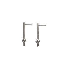 Bar orb earrings - silver - La Terra