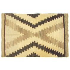 "Antique Navajo Rug w/ Serrated X Design in Natural Colors 3'5.5"" x 4'10"""