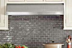 Go for the gleam with a fresh take on classic subway tile. The metallic sheen on these mini rectangl... - Eric Piasecki/Otto