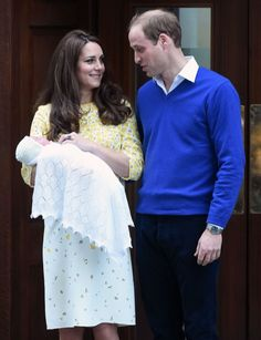 Princess+Charlotte+Elizabeth+Diana | The Duke And Duchess Outside The Lindo Wing With Their Newborn ...
