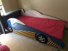 Blue Car Bed fits single mattress is listed For Sale on Austree - Free Classifieds Ads from all around Australia - http://www.austree.com.au/baby-children/cots-bedding/blue-car-bed-fits-single-mattress_i2193