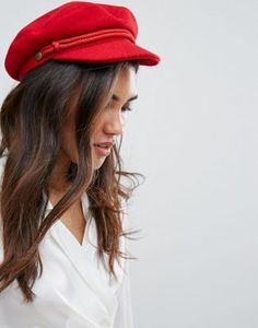Brixton Baker Boy Hat in Red