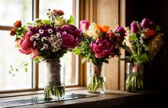 Bridal bouquets by Petal and Bean at Ten Mile Station.