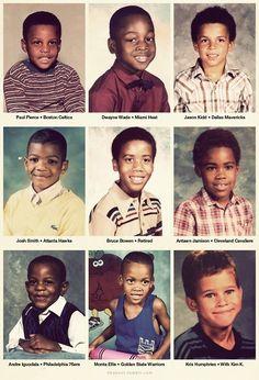 NBA Players as kids. -