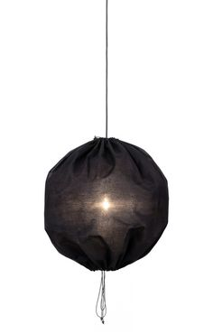 The lovely Kuu Lamp: A Drawstring Pendant from One Nordic