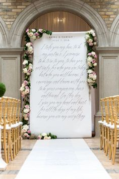 Gracious fonts with old world elegance give this an exquisite look that is luxurious with a hint of modern flair. Display at your ceremony, welcome area, sweet bar, drink station or anywhere else throughout your decor that could use a little love. Wedding Centerpieces, Wedding Table, Wedding Bouquets, Wedding Flowers, Wedding Decorations, Wedding Backdrops, Wedding Favors, Wedding Banners, Aisle Decorations