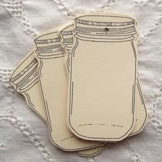 My mason jar hang tags