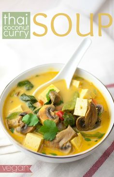 Produce On Parade - Thai Coconut Curry Soup- just bought tofu for the first time and this looks like a perfect trial run recipe!!