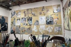 Well, why don't you visit the studio of Anna Schuleit? Art Critique, Picasso Paintings, Anna, Art Studios, Artist At Work, Abstract Art, Illustration Art, Studio Spaces, Studio Ideas