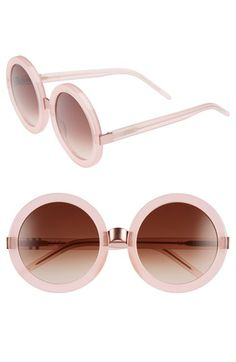 5d89e81f7c6 Wildfox  Malibu  56mm Round Sunglasses
