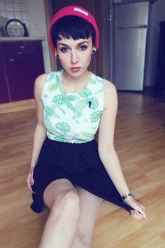 Shop this look on Kaleidoscope (shirt, skirt) http://kalei.do/WtySCq8BsaoSlVRz
