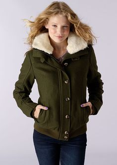 2a91419b dELiAs > Wool Bomber Coat > clearance > outerwear & jackets  Delias