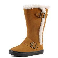 Warm Buckle Trim Snow Boots
