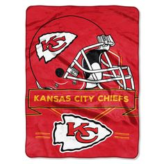 Kansas City Chiefs Blanket - 60x80 Royal Plush Raschel Throw - Prestige Design