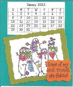 My 2012 homemade CD Calendars ... hand stamped!!