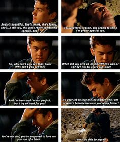 """When Pacey broke down to his drunk, passed out father: 