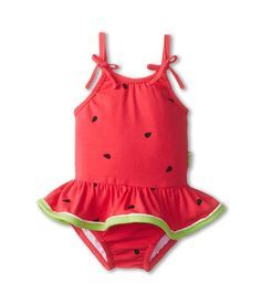 le top Watermelon Cutie Skirted Swimsuit (Newborn/Infant/Toddler) Watermelon Pink - http://Zappos.com Free Shipping BOTH Ways