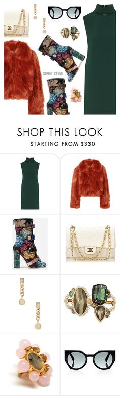 """""""Street Style"""" by dressedbyrose ❤ liked on Polyvore featuring Theory, Maison Margiela, Dolce&Gabbana, Chanel, Versace, Alexis Bittar, Mulberry, Fendi, StreetStyle and ootd"""
