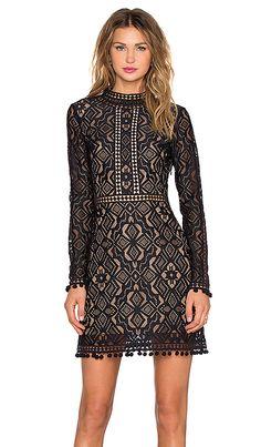 For Love & Lemons Florence Cocktail Dress in Black | REVOLVE