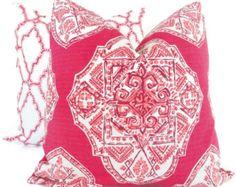 Lacefield Malta Mulberry e Decorative Pillow Cover, 18x18, 20x20, 22x22 or lumbar pillow Throw Pillow, Accent Pillow, Toss Pillow