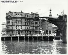 Circular Quay West, no date. Sydney Harbour Trust Building, so after State Records NSW Sydney City, Old Pictures, Old Photos, The Rocks Sydney, Quay West, Historical Images, Historical Architecture, Old World