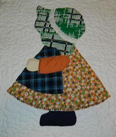 Image detail for -Sunbonnet Sue Orange Quilt