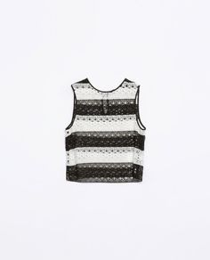 STRIPED GUIPURE LACE TOP - Shirts - WOMAN | ZARA United States