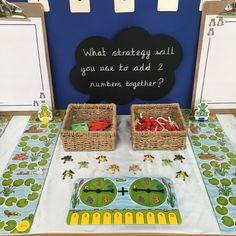 Maths - adding 2 numbers Year 1 Classroom, Early Years Classroom, Reading Den, Creative Area, Block Play, Eyfs, Bulletin Board, Phonics, Maths