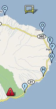 Road to Hana Map - It's not where your going... It's getting there that's the adventure!