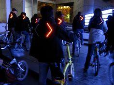 Turn signal bike jackets