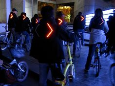Turn signal bike jackets