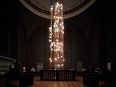 giant chandelier 28.280 at the V&A museum by Canadian lighting brand Bocci / Omer Arbel