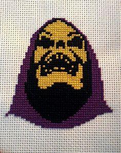 SKELETOR Finished cross stitch by FeralCatStudio on Etsy, $30.00