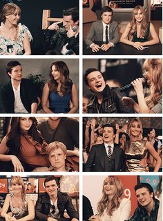 """Jennifer Lawrence on Josh Hutcherson: """"Josh is so charming, he's so charming! & when u read in the books about Peeta being able to manipulate anybody — i mean Josh could get, well, I dont know a metaphor for [this scenario] except for dirty ones. But he's charming, he's sweet, he's down to earth, he's normal. He embodies all of it and brings it all to Peeta. So when u meet him he's got all of these great qualities and every single one of them come across in every line he says out loud as…"""