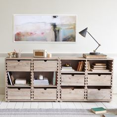 Thanks to the dovetail joints on this crafty console you can arrange the drawers and shelves. Then fill them chock-a-block with bits 'n' bobs. Console Furniture, Modular Furniture, Furniture Design, Console Tables, Adams Furniture, Hallway Console, Hallway Storage, Fine Furniture, Furniture Ideas