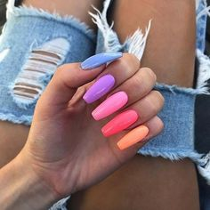 43 Pretty Ways to Wear Rainbow Nails This Summer Pastel Rainbow Coffin Nails The post 43 Pretty Ways to Wear Rainbow Nails This Summer appeared first on Summer Ideas. Acrylic Nails Coffin Short, Neon Acrylic Nails, Simple Acrylic Nails, Square Acrylic Nails, Acrylic Nail Designs, Coffin Nails, Pastel Nails, Neon Nail Art, Pink Coffin