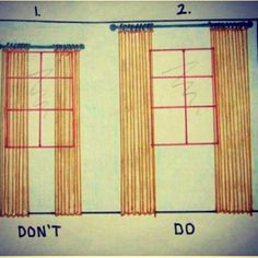 This is the best tip I've seen all week!  FYI: How to hang drapes