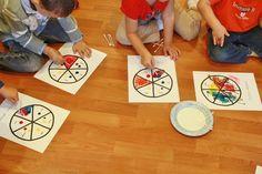 Preschool color wheels