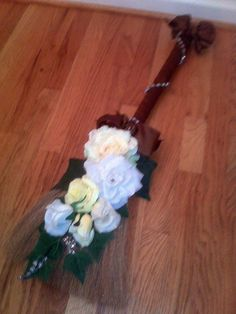 Brown and yellow broom $60.00