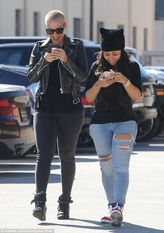 What are you smiling about? Amber Rose and her good friend Blac Chyna were gleeful as they...