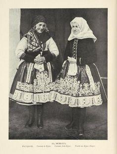 [Costume de Kyjov = Costume from Kyjov = Tracht aus Kyjov (Ga. Folk Costume, Costumes, Vintage Clothing, Vintage Outfits, European Dress, Drawing Wallpaper, Prague Czech Republic, Folk Fashion, New York Public Library