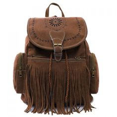 Hippie boho bohemian bag in brown. For more followwww.pinterest.com/ninayayand stay positively #pinspired #pinspire @ninayay
